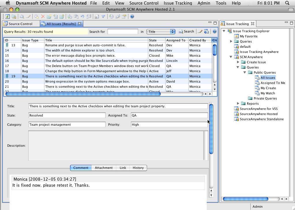 Mac Screen - Online Software Configuration Management (SCM) Hosting
