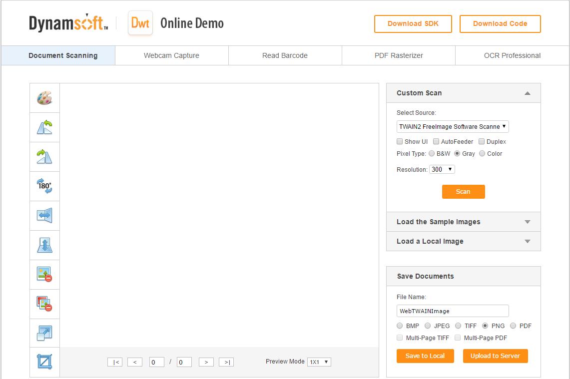 web twain online demo