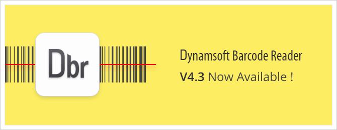 Dynamsoft Barcode Reader 4.3 released
