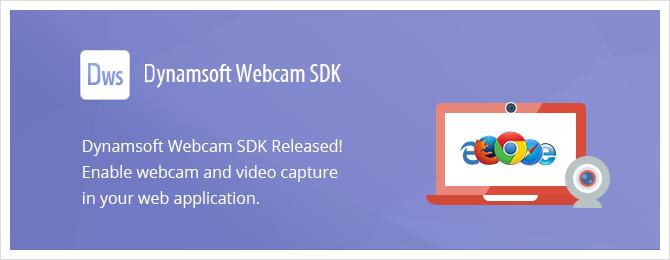Dynamsoft Webcam Capture SDK