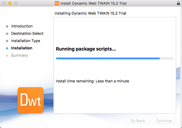macos installer dynamic web twain