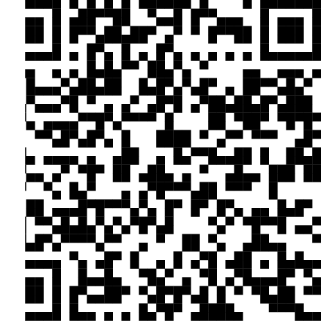 QR code before restoring the finder pattern