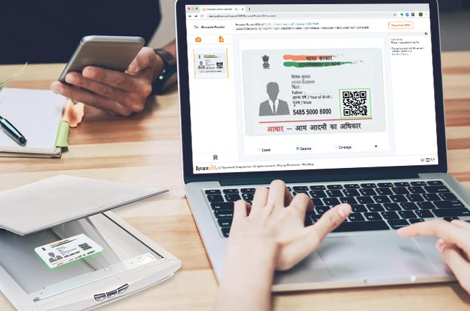 web addhaar card application