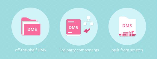 Continuous development for different document management application strategies