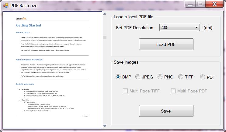 PDF Rasterizer