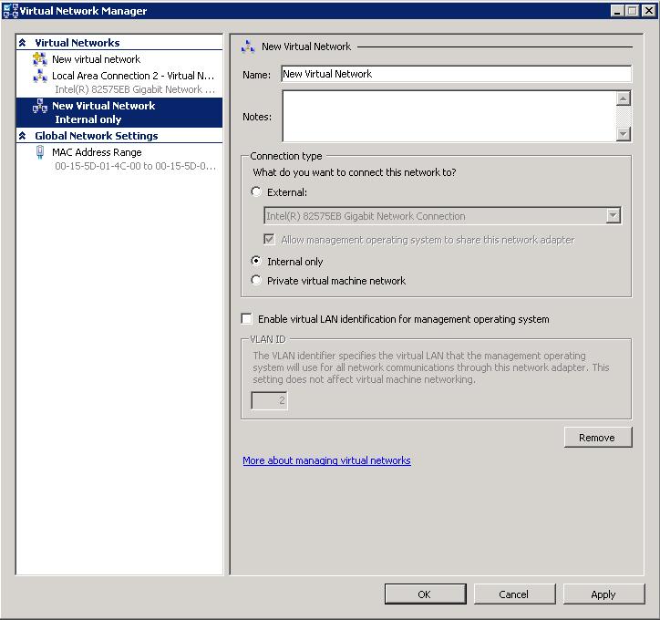 Hyper-V Network Manager