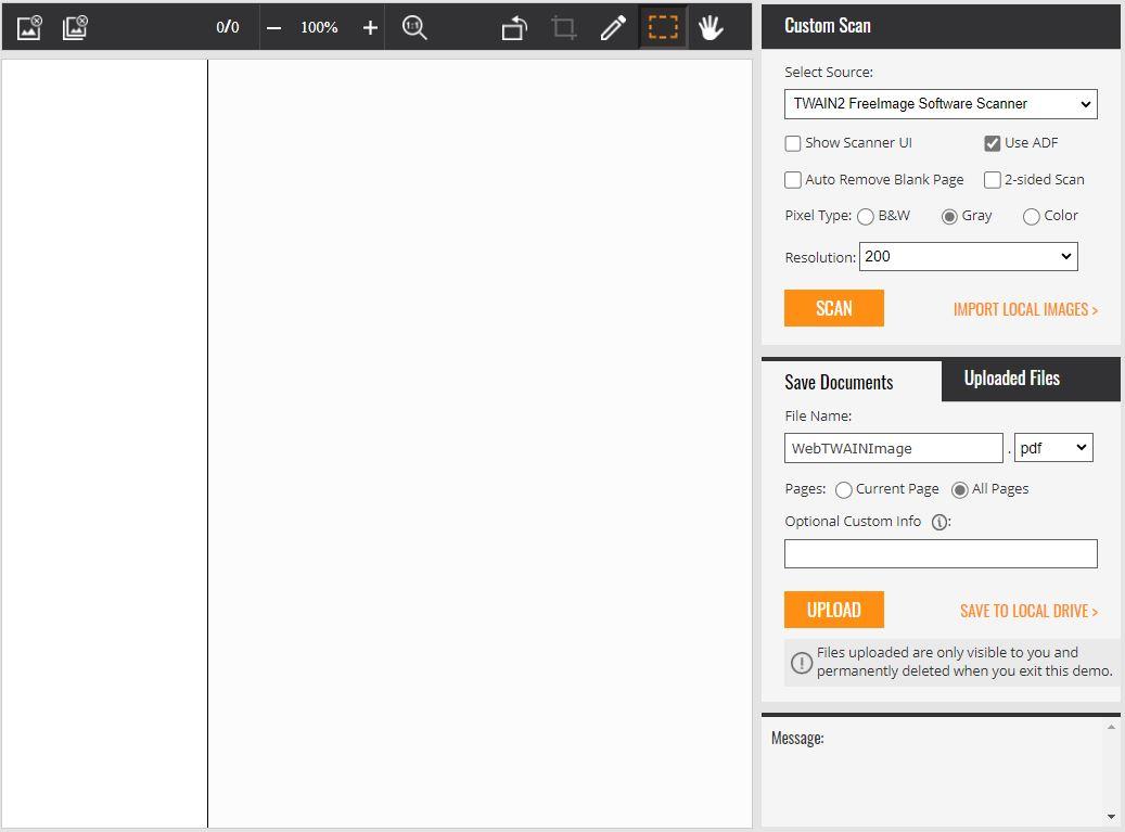 Web TWAIN Scanning in Edge Browser on Windows 10