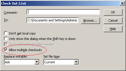 Allow multiple checkouts at the client side