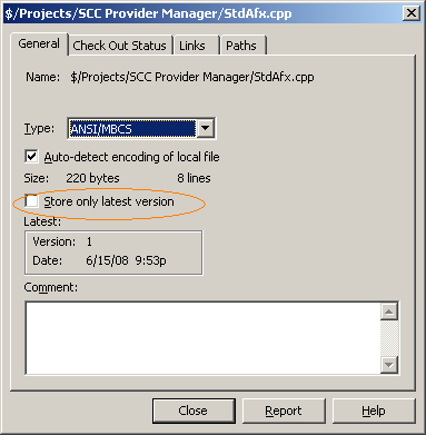 File property – Store only latest version