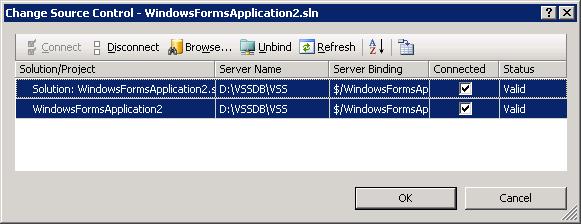Change source control binding