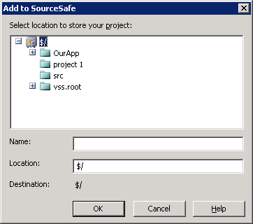 Add to SourceSafe