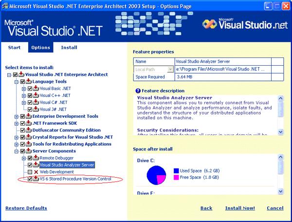Visual Studio .net 2003 Setup