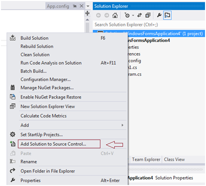 VS2012AddSolution