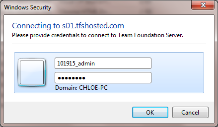 Log into TFS Server