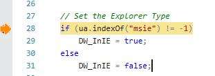 user agent JS code