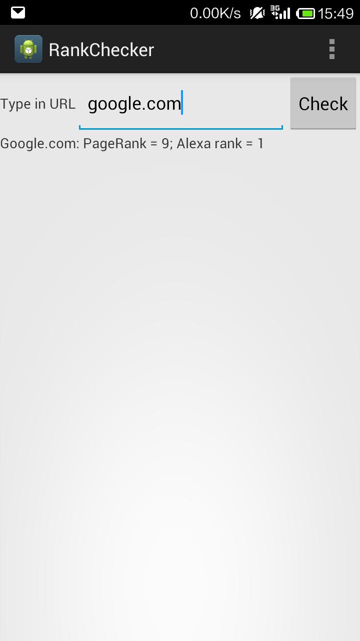Android Rank Checker