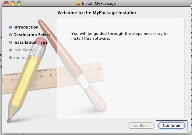 run installer