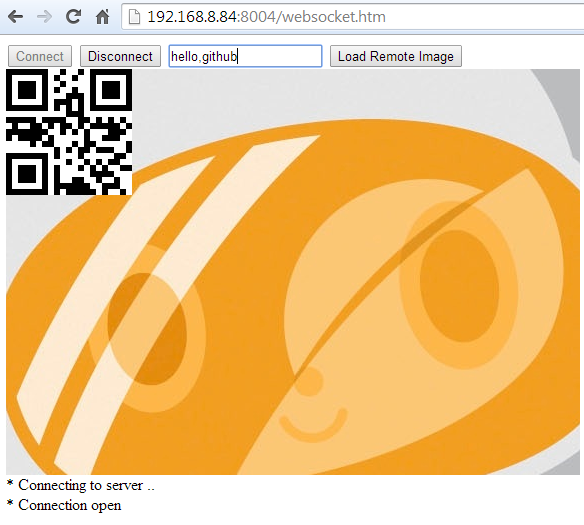 websocket barcode