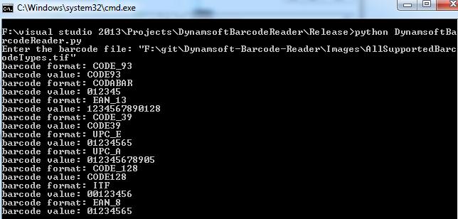 test Python Barcode program