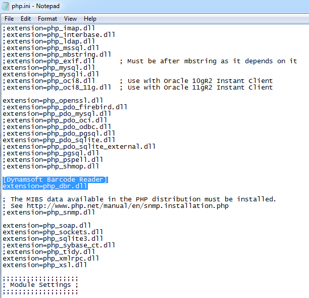 php.ini configuration