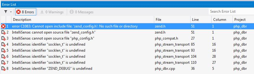 PHP preprocessor errors