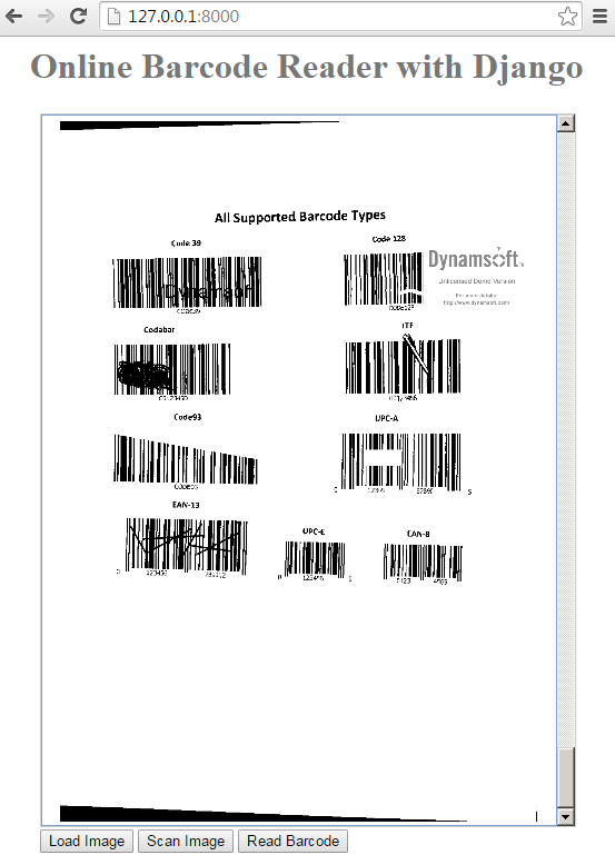 load multi Barcode images