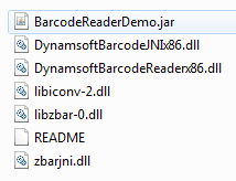 java barcode program
