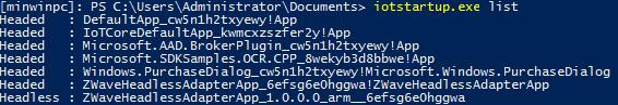 Windows IoT startup list