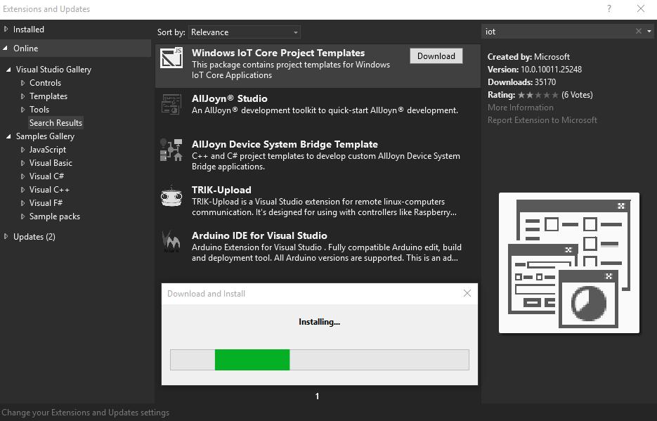 Windows IoT template
