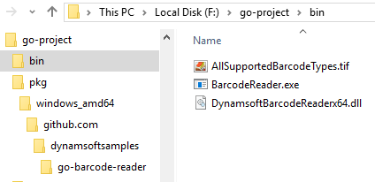 Go Barcode Reader