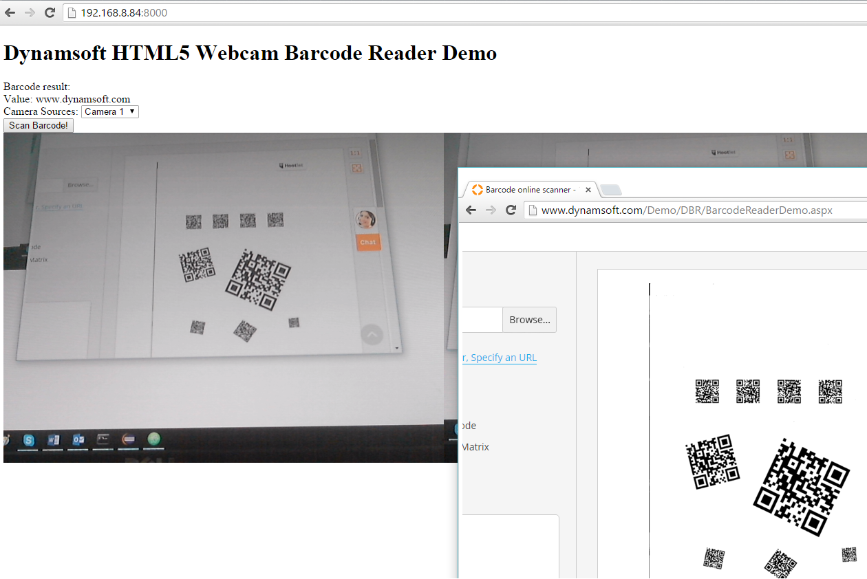 HTML5 Barcode Reader with Desktop and Mobile Cameras