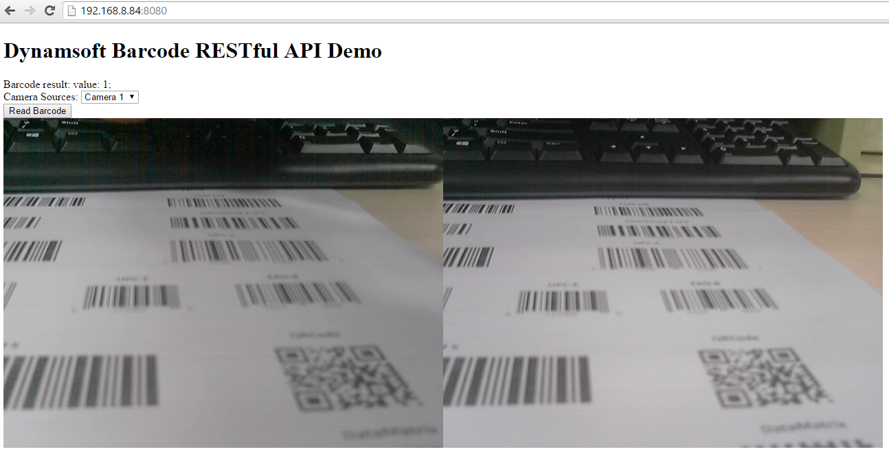 How to Make Web Barcode Reader with Node REST Framework