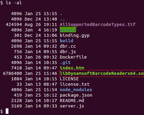 How to Dockerize Nodejs Barcode Reader on Linux