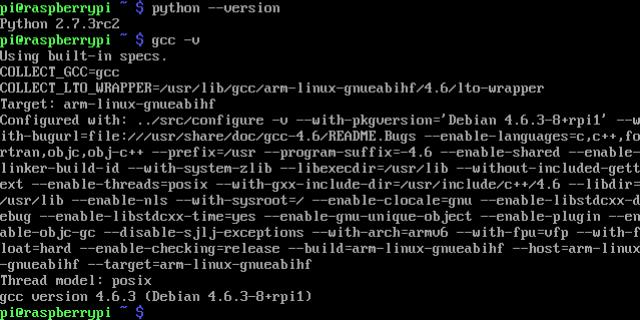 RPi Python GCC