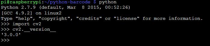 Opencv for Raspberry Pi