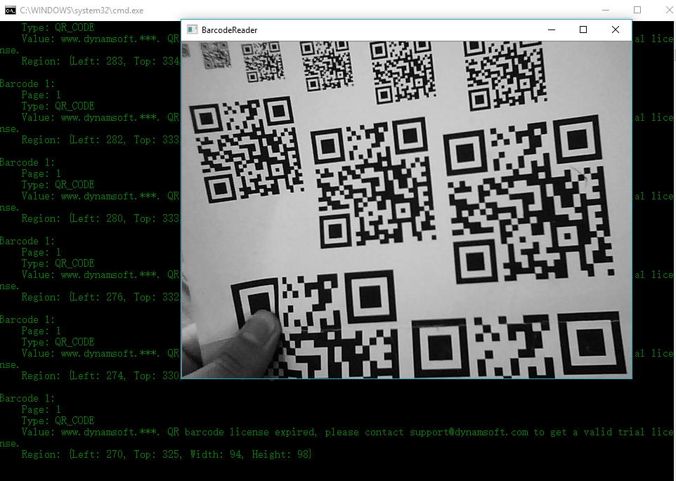 webcam barcode scanner in C/C++
