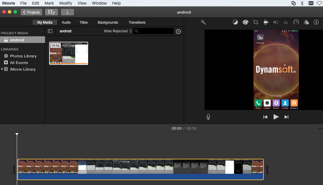 edit video with iMovie