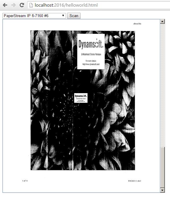 JavaScript document scanning