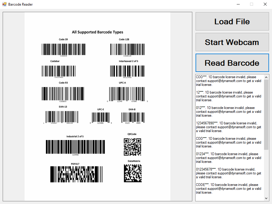 WinForm Barcode Reader with Webcam and C# - Code Pool