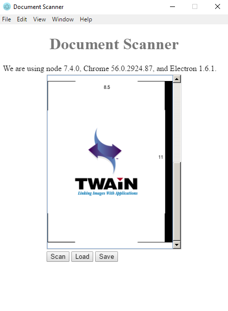 Online document scanning