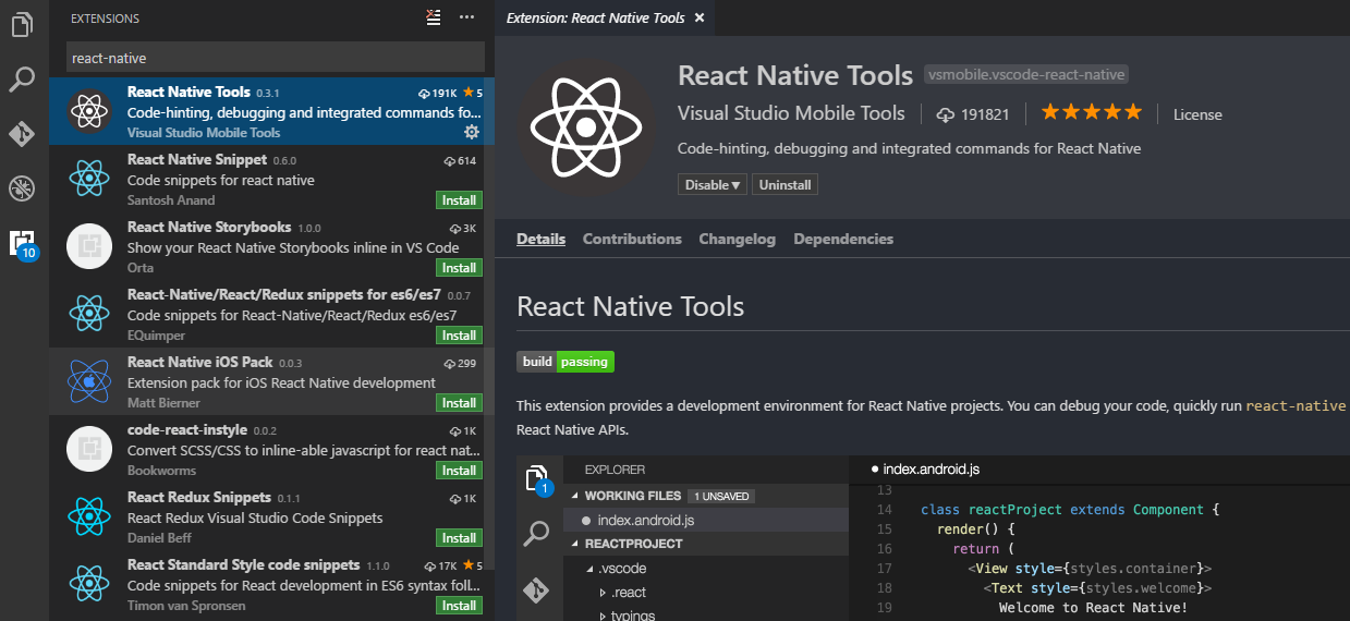 react native editor