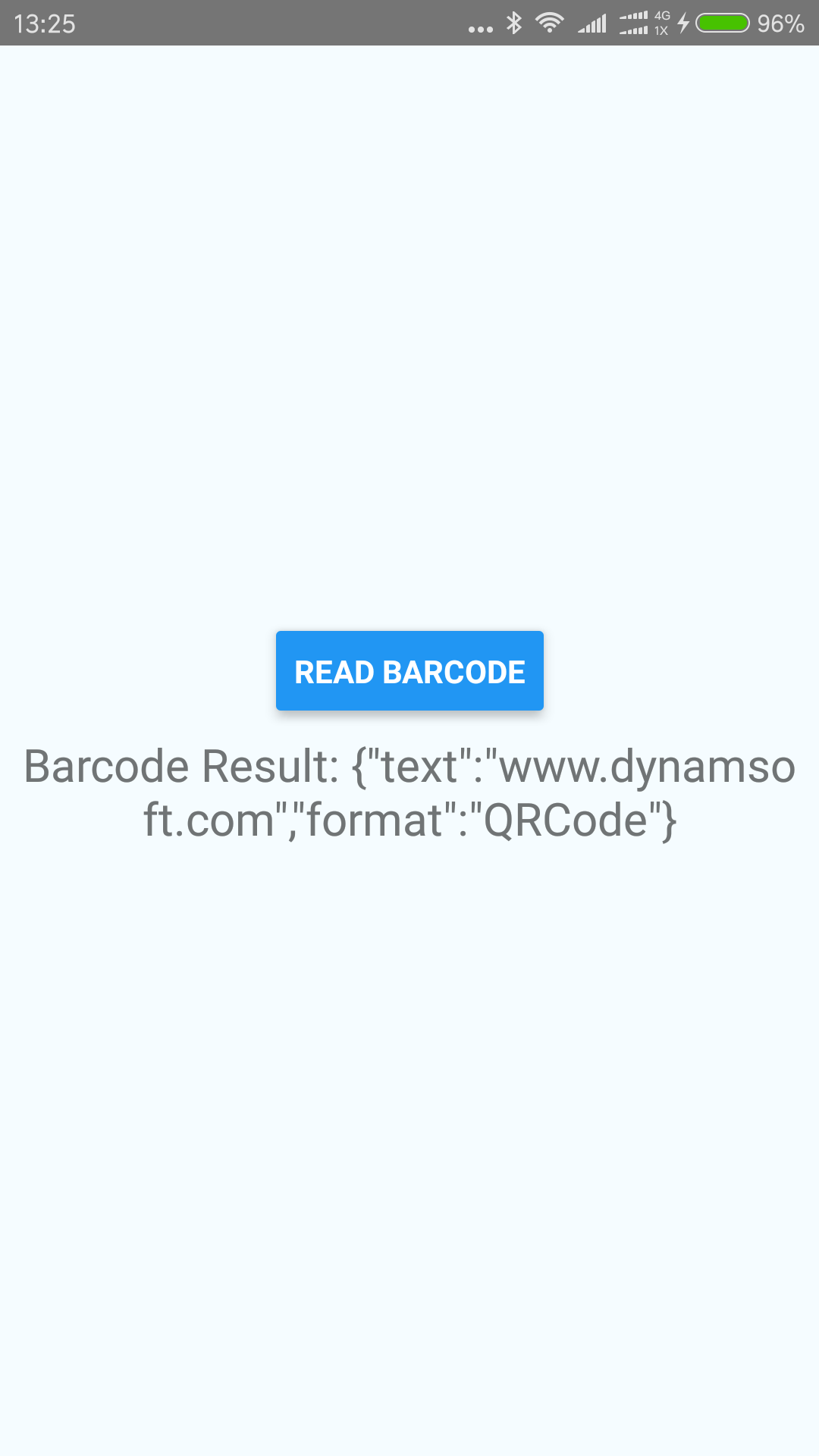 react native barcode result