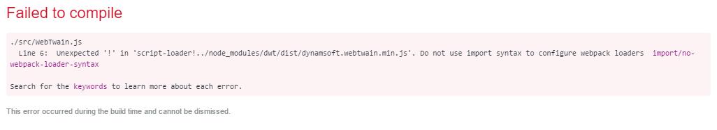 webpack loader error