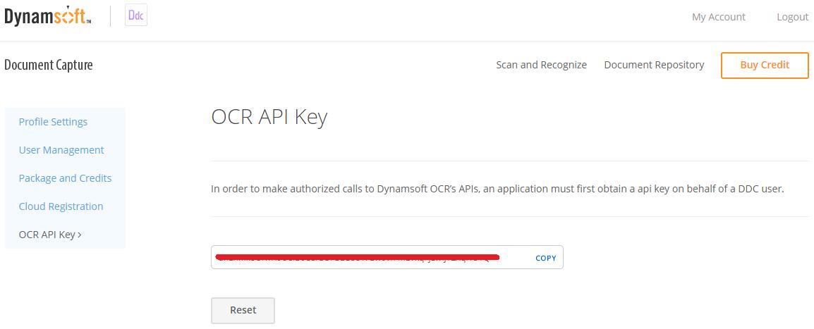 OCR API key