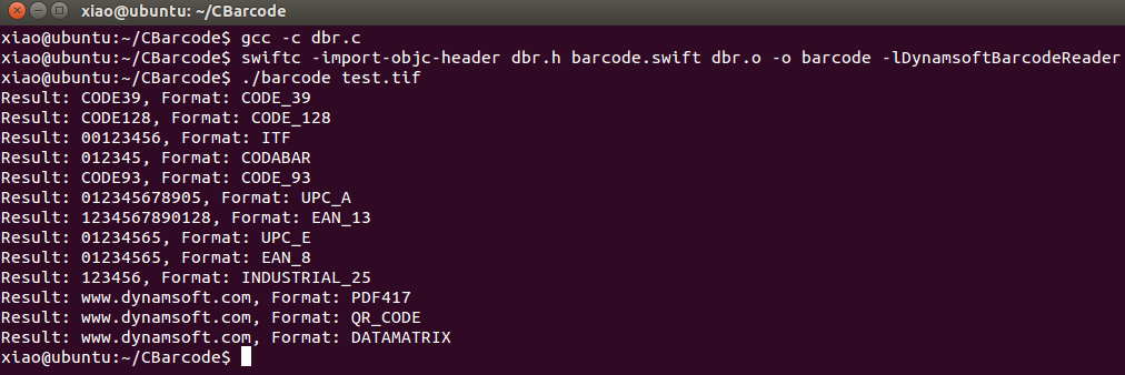 Linux Swift Barcode Reader