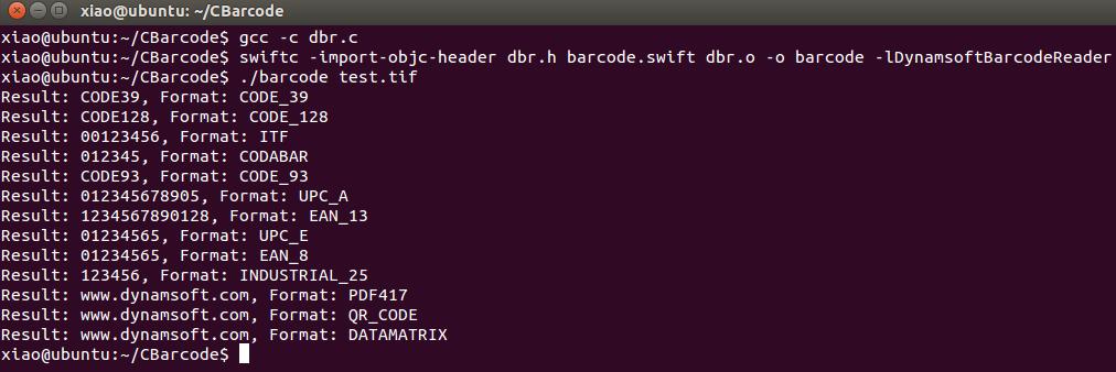 Linux Swift Barcode Reader