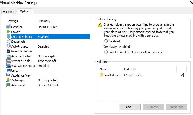 vmware share folder