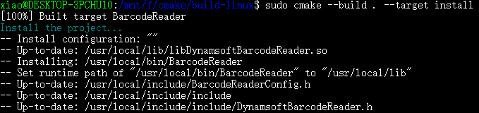 cmake build install