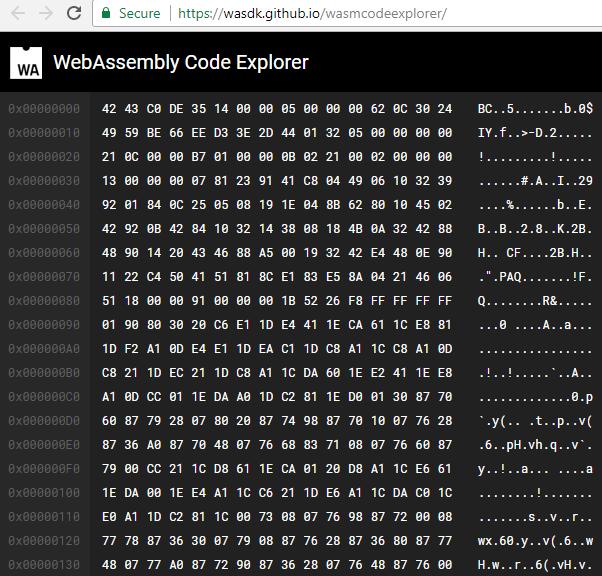wasm code explorer