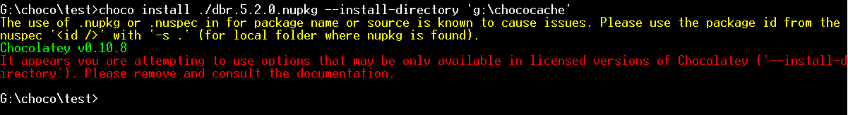 chocolatey change install directory